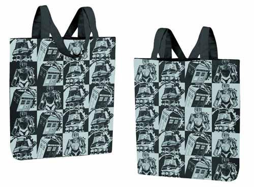 Doctor Who Monochrome Comic Strip Tote Bag -- NOV132074