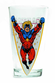 Toon Tumblers Captain Marvel Pint Glass -- Marvel Comics -- NOV132305