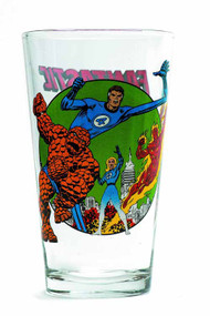 Toon Tumblers Fantastic Four Pint Glass -- Marvel Comics -- NOV132309