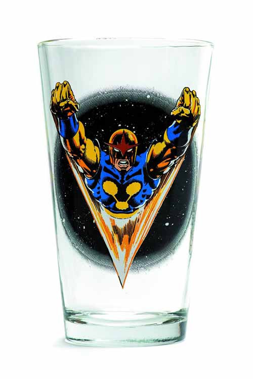 Toon Tumblers Nova Pint Glass -- Marvel Comics -- NOV132315