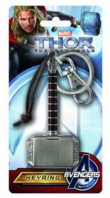 Thor Dark World Hammer Pewter Keyring -- Avengers -- NOV132320
