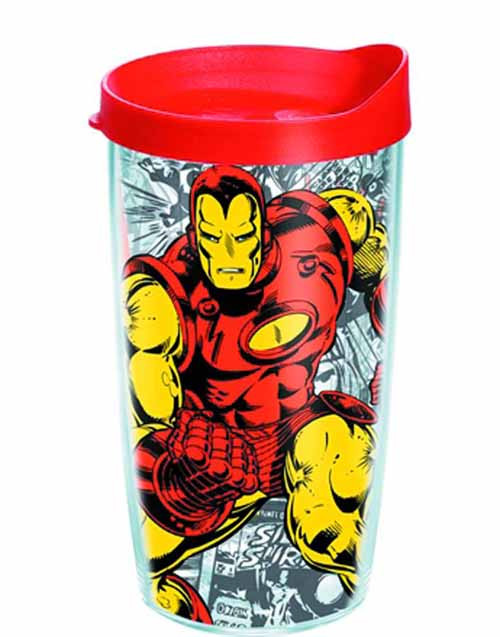 Tervis Classic Iron Man Wrap with lid 10oz Tumbler -- NOV132328