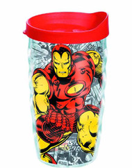 Tervis Classic Iron Man Wrap with lid 10oz Wavy Tumbler -- NOV132329