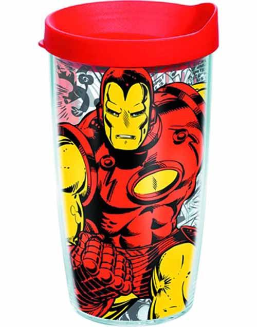 Tervis Classic Iron Man Wrap w/ lid 16oz Tumbler --Avengers -- NOV132330