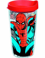 Tervis Classic Spider-Man Wrap with lid 16oz Tumbler -- NOV132334