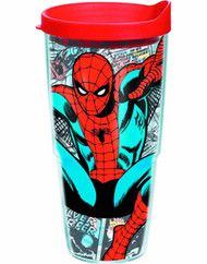 Tervis Classic Spider-Man Wrap with lid 24oz Tumbler -- NOV132335