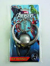 Loki Helmet Symbol Pewter Keyring -- Marvel Comics -- NOV132338