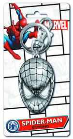 Spider-Man Head Pewter Keyring -- Marvel Comics -- NOV132340