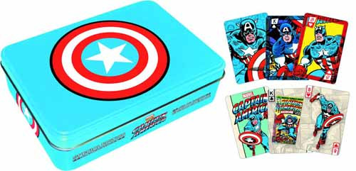 Captain America Playing Card Gift Tin -- Avengers -- NOV132342