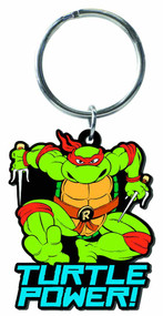 Teenage Mutant Ninja Turtles Raphael Soft Touch PVC Keyring -- NOV132364