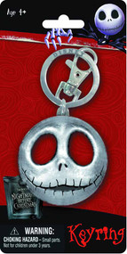 Nightmare Before Christmas NBX Jack Head Pewter Keyring -- NOV132379