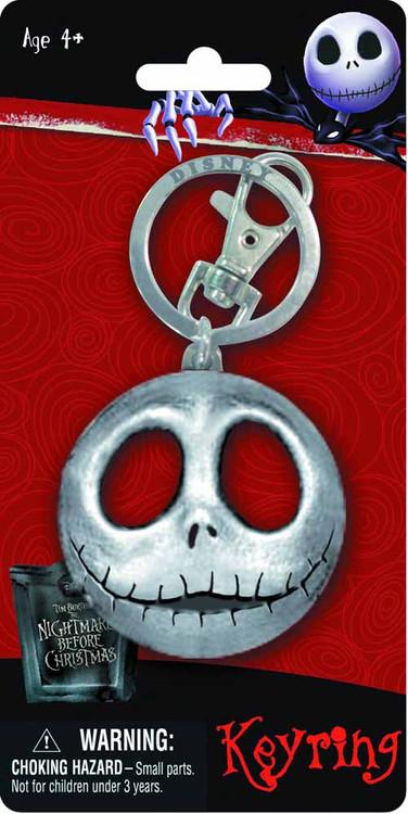 Nightmare Before Christmas NBX Jack Head Pewter Keyring -- NOV132379