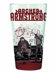 Valiant Archer & Armstrong Clear Pint Glass -- NOV132438
