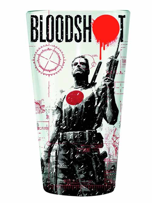 Valiant Bloodshot Clear Pint Glass -- NOV132439