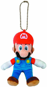 Super Mario Bros Mario 5in Plush Keychain -- Nintendo -- NOV132448