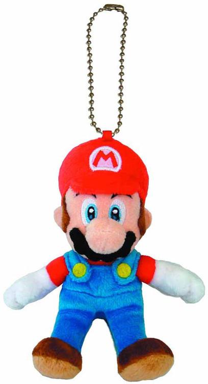 Super Mario Bros Mario 5in Plush Keychain -- Nintendo -- NOV132448