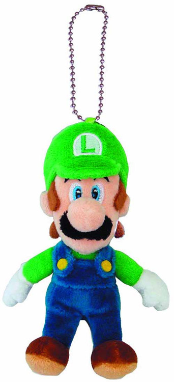 Super Mario Bros Luigi 5in Plush Keychain -- Nintendo -- NOV132449