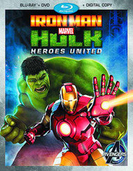 Marvels Iron Man And Hulk Heroes United BD + DVD --Avengers -- NOV132540