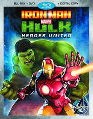 Marvels Iron Man And Hulk Heroes United DVD -- Avengers -- NOV132541