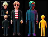 Andy Warhol VCD Vinyl Collector Doll Silkscreen Version -- OCT121724