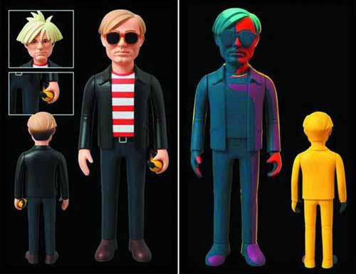 Andy Warhol VCD Vinyl Collector Doll Silkscreen Version -- OCT121724
