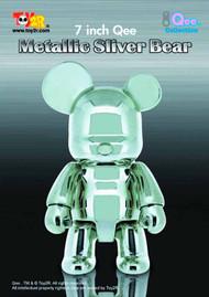 Metallic Silver 7In Bear Qee Vinyl Figure -- APR121723