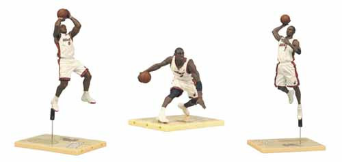 TMP NBA Miami Heat Championship Action Figure 3-Pack Case -- SEP121734