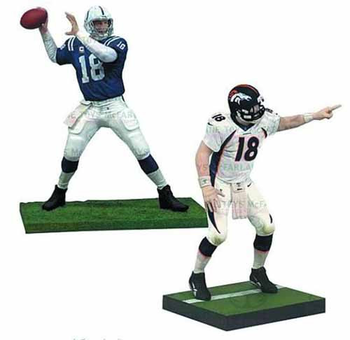 TMP NFL Peyton Manning Action Figure 2-Pack Case -- SEP121735