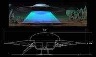 Forbidden Planet C57D Flying Saucer 1/144 Model Kit -- SEP121758