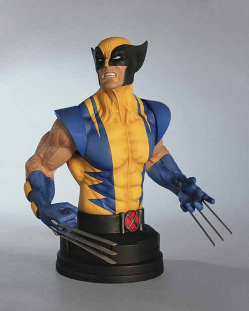 Wolverine Yellow Mini-Bust--X-Men Marvel Gentle Giant -- APR121782