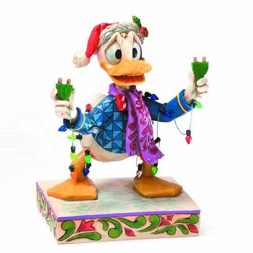 Disney Traditions Donald with Christmas Lights Figure -- SEP122039