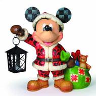 Disney Traditions Santa Mickey Holding Lantern Figure -- SEP122045