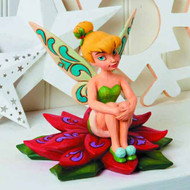 Disney Traditions Tinkerbell On Poinsettia Figure -- SEP122047
