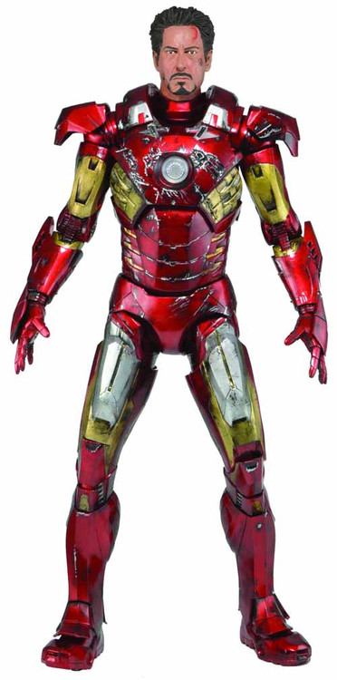 Avengers Iron Man Battle Damaged 1/4 Scale Action Figure -- SEP131952
