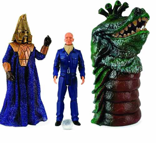 Doctor Who Enemies Of The 3rd Doctor Action Figure Set -- DEC121730