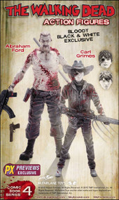 Walking Dead Series 4 PX Carl Abraham Action Fig 2-pk Case -- MAY150638