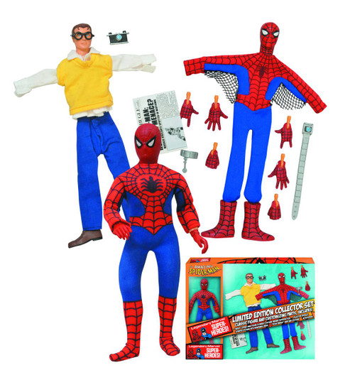 Marvel Spider-Man 8in Retro Action Figure Set -- Diamond -- MAY152204