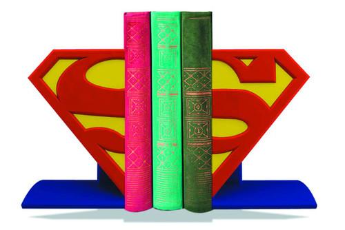Superman Logo Bookends -- Man of Steel DC Comics -- MAY152624