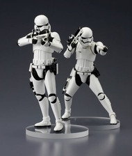 Star Wars Ep7 Force Awakens First Order Stormtrooper ARTFX+ Statue 2pk -- NOV152451