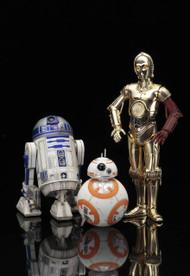 Star Wars Ep7 C-3PO R2-D2 BB-8 ARTFX+ Statue -- Kotobukiya -- DEC152336