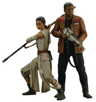 Star Wars Ep7 Force Awakens Rey & Finn ARTFX+ Statue 2pk | Kotobukiya -- JAN172950