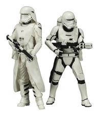 Star Wars Ep7 Snowtrooper & Flametrooper ARTFX+ Statue 2pk Kotobukiya -- MAR173062