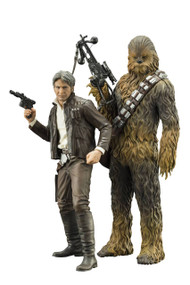 Star Wars Ep7 Force Awakens Han Solo & Chewbacca ARTFX+ Statue 2pk -- APR172959