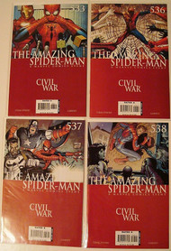 Amazing Spider-Man 533 536 537 538 Civil War Captain America | COMIC00000185