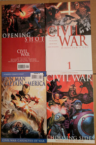 Civil War Opening Shot Director's Cut Casualties Choosing Sides Marvel | COMIC00000194