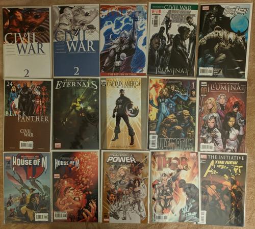 Avengers Civil War Captain America Iron Man Marvel Set Comics Grab Bag   COMIC00000195