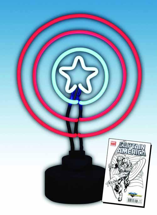 Marvel Captain America Neon Sign -- Avengers Diamond Select -- AUG121771