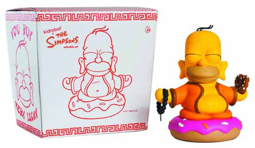 Simpsons Homer Buddha Vinyl Figure -- AUG121797