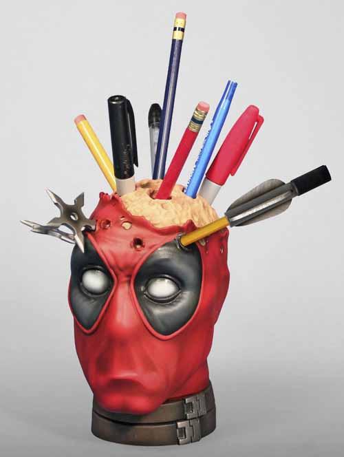 Deadpool Pencil Cup Desk Accessory -- X-Men -- AUG121850