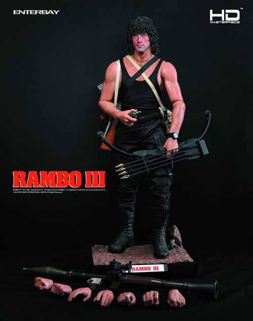 Rambo III John Rambo HD Masterpiece Action Figure -- AUG121926